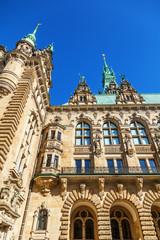 Rückseite des Hamburger Rathauses