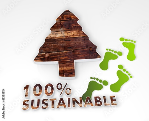 sustainable abstract conifer 3d icon