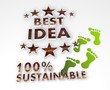 sustainable best idea 3d icon