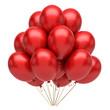 Obrazy na płótnie, fototapety, zdjęcia, fotoobrazy drukowane : Red party balloons