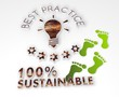 sustainable best practice 3d symbol