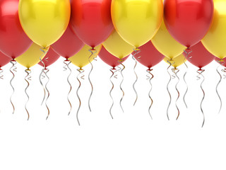 Red yellow party balloons