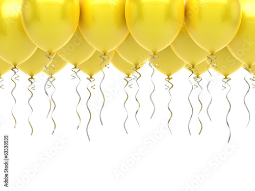 Yellow party balloons
