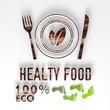 eco healthy food 3d icon