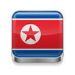 Metal  icon of North Korea