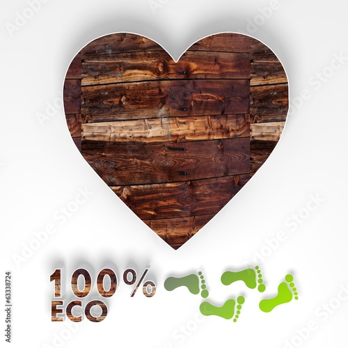 eco heart 3d icon