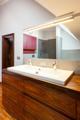 Bathroom interior, countertop