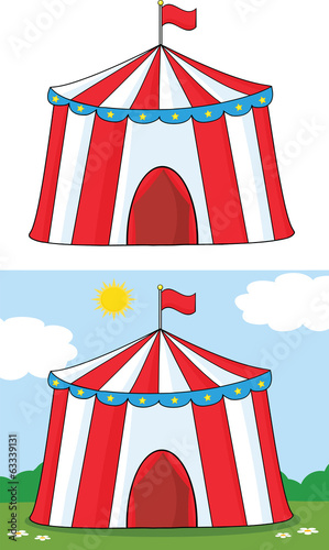 Big Circus Tent. Collection Set