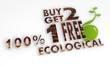 sustainable buy two get one free sign