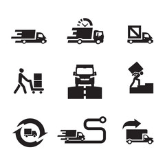 Delivery icons. Vector format