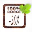 100 percent natural button