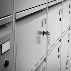Deposit safe bank and key