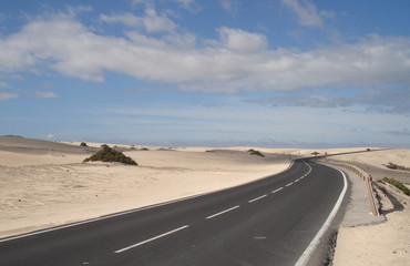 Road throug the desert