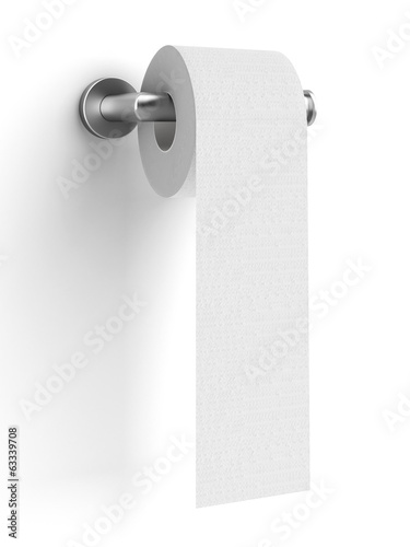toilet paper on holder