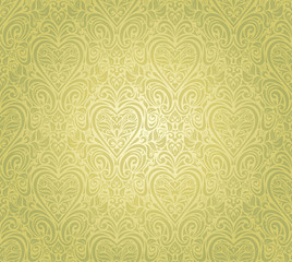 green vintage seamless floral background design