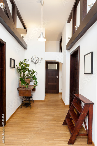 Hall in modern house
