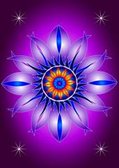Mandala blooming flower