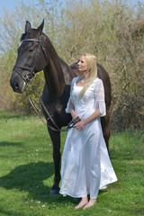 mariée avec cheval