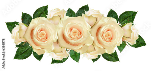 canvas print picture Rose flowers arrangement