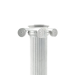 Antique Column On A White Backround(3d)