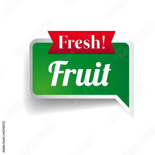 Fresh fruit, badge or seal