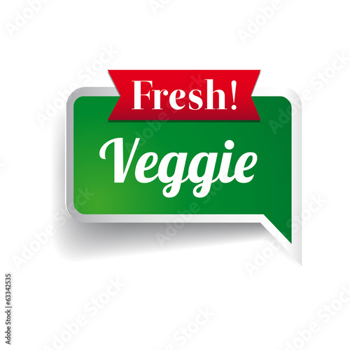 Fresh vegetable, badge or seal