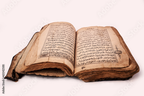 Old Quran Book OnThe White Background