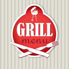 Grill menu design for restaurant.
