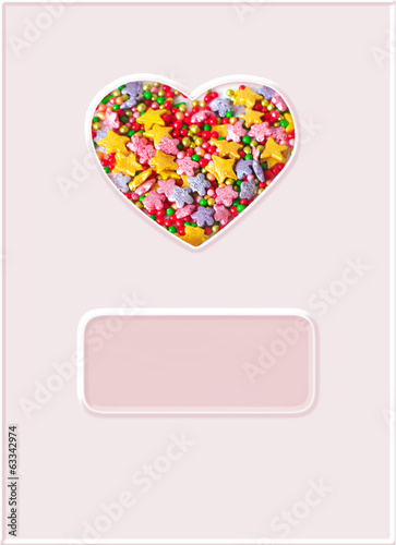 heart, symbol of love, postcard