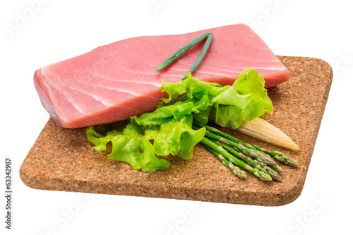 Tuna raw steak