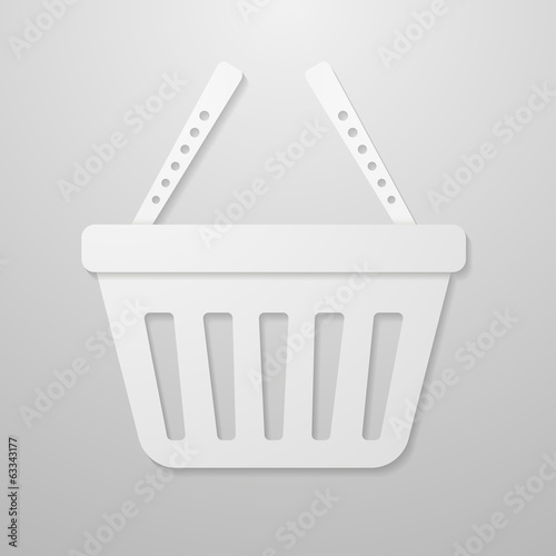Paper icon of shopping cart