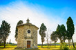San Guido Oratorio church and cypress trees. Maremma, Tuscany, I