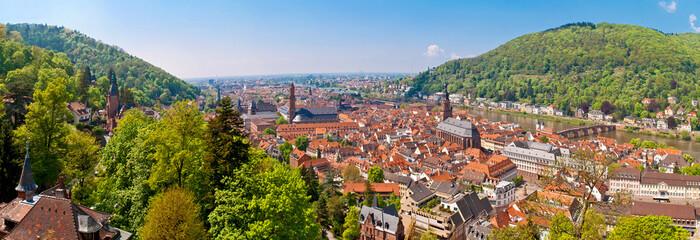 Blick vom Heidelberger Schloss auf die romantische Altstadt