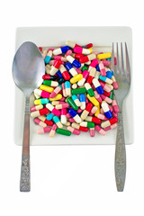 dinner with medicine