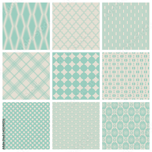 set of 9 seamless vintage patterns - saved as pattern swashes