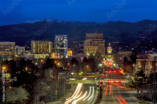 Beautiful city of Boise Idaho Capital boulevard