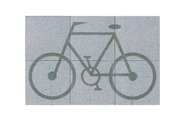 Beautiful bicycle figure floor tile great for outdoor decoration