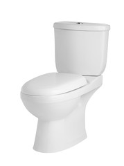 luxury sanitary toilet bowl on white background
