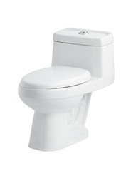Nice sanitary toilet bowl isolated on white background