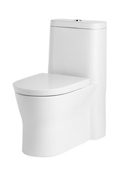 Beautiful and luxury toilet bowl on white background