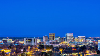 Night scene of Boise Idaho