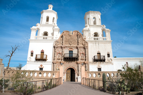 Mission San Xavier del Bac in Tohono O'odham Indian Reservation