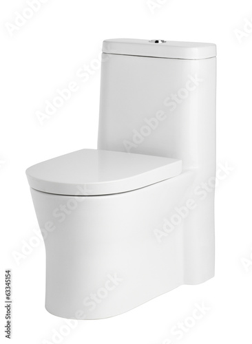 Beautiful and luxury toilet bowl on white background