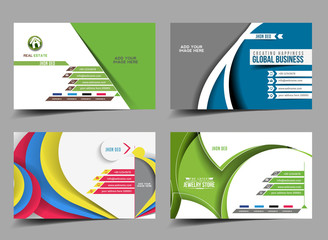 Set of Business Card Mock up Design