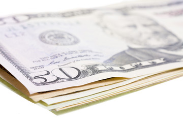 Many money bills made of paper