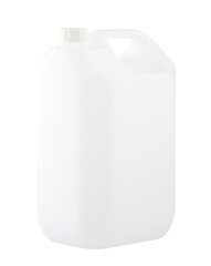 Empty gallon no sign or label isolated on white