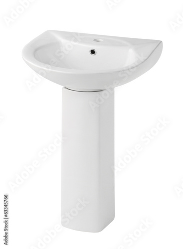 Beautiful design of the washbasin isolated