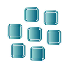Blue Topaz - vector illustration