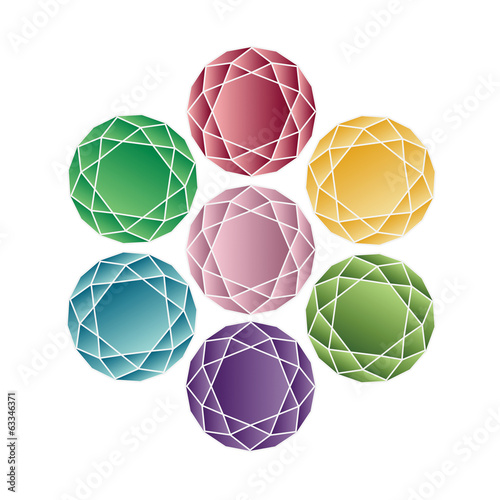Jewel set. Vector illustration.