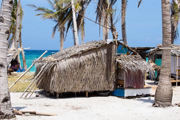 Poor area near the sea in island Malapascua, Philippines
